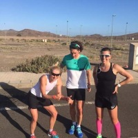 fast run with fast athletes