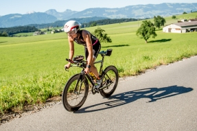 on the hilly bike course © skinfit international