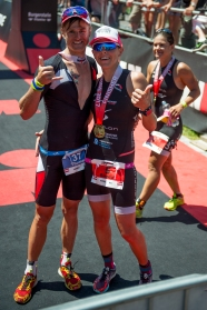 happy at the finish line with my tommy © skinfit international