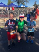 Gage and Dax running the Iron-Kids! :)