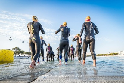 just a few minutes before the swim start - pic @thatcameraman
